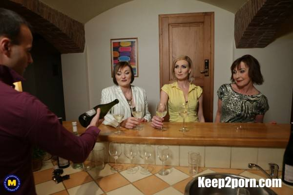 Danny 63, Jara C. 38, Kaylea 35 - This Bartender gets a special tip from these three naughty mature ladies [FullHD] - Mature.nl