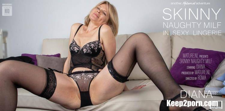 Diana (52) - Naughty skinny MILF teasing in her sexy lingerie [Mature.nl / HD 720p]