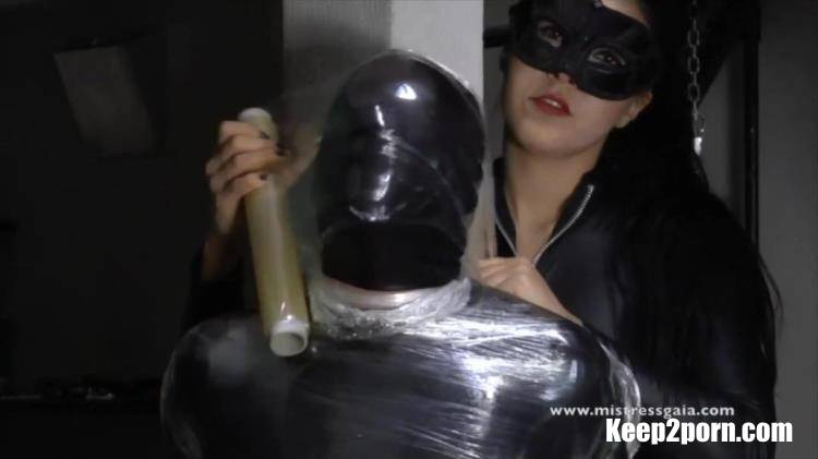 Mistress Gaia - Smothered In Clingfilm & Latex [MistressGaia / HD 720p]